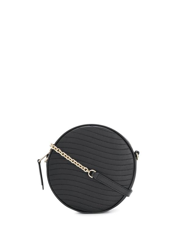 Furla Swing Mini Round Crossbody Bag In Black