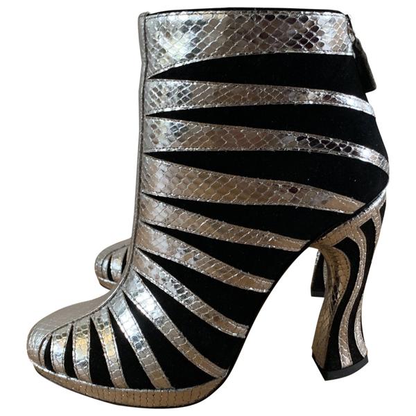 Pre-owned Rodarte Silver Leather Heels