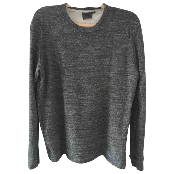 Naked & Famous Anthracite Cotton Knitwear & Sweatshirts