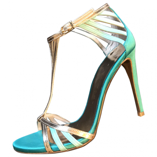 Luis Onofre Turquoise Leather Sandals