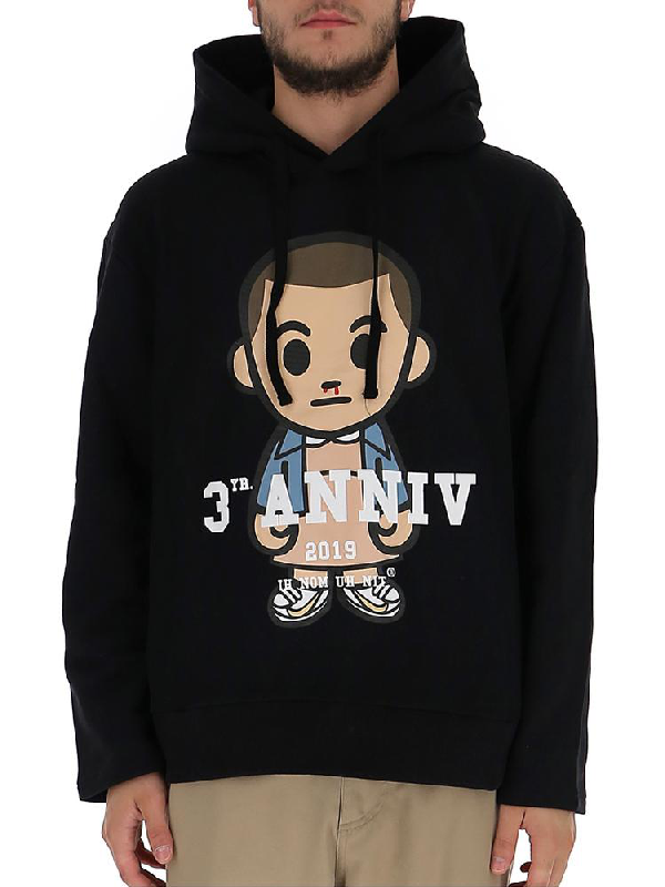 Ih Nom Uh Nit Graphic Print Hoodie In Black