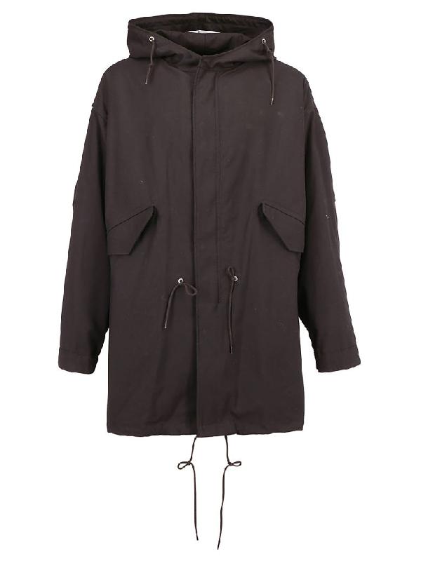 Raf Simons Parka Coat In Black