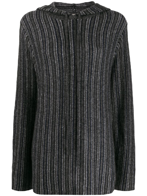 The Row - Woman - Hoodie Cachemire Poncho In Grey