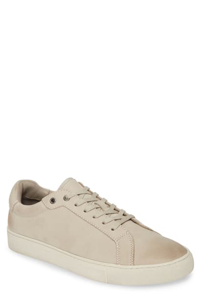 Allsaints Men's Stow Leather Low-top Sneakers In Chalk