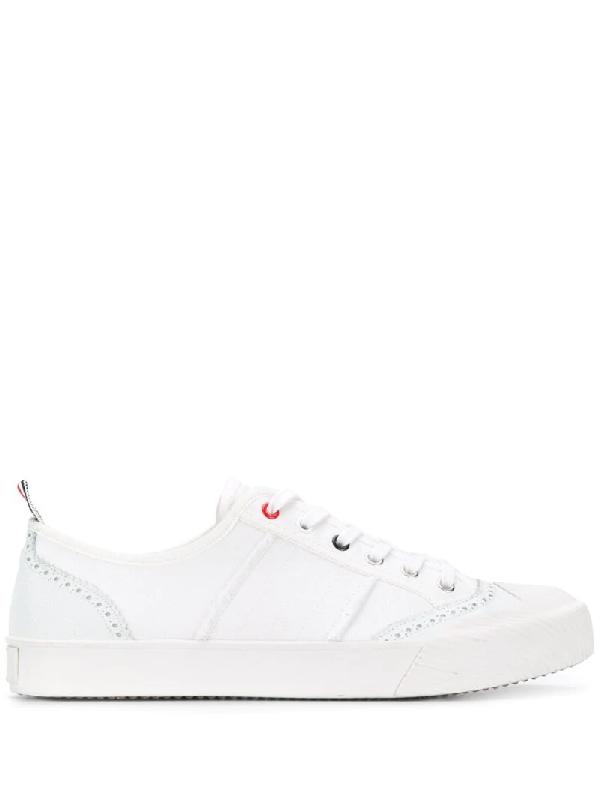 Thom Browne Thom Brown Brogue Low Top Sneaker In 100 White