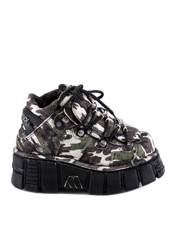 New Rock Sneakers In Green