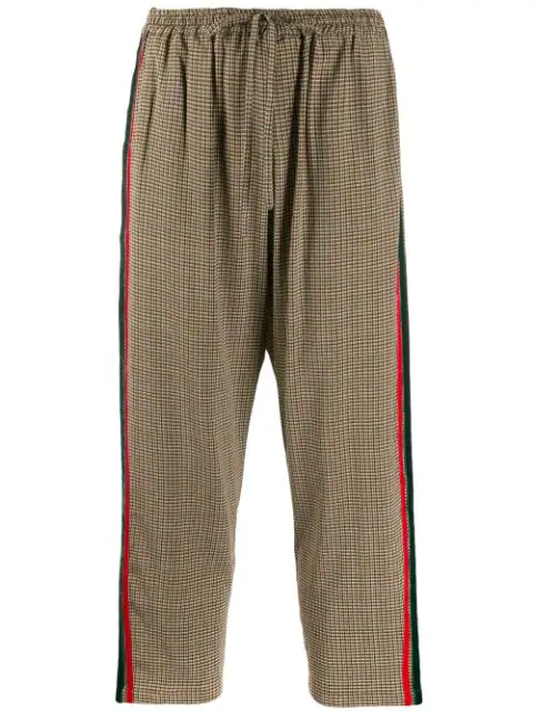 Pierre-louis Mascia Adana Check Striped Trousers In Neutrals