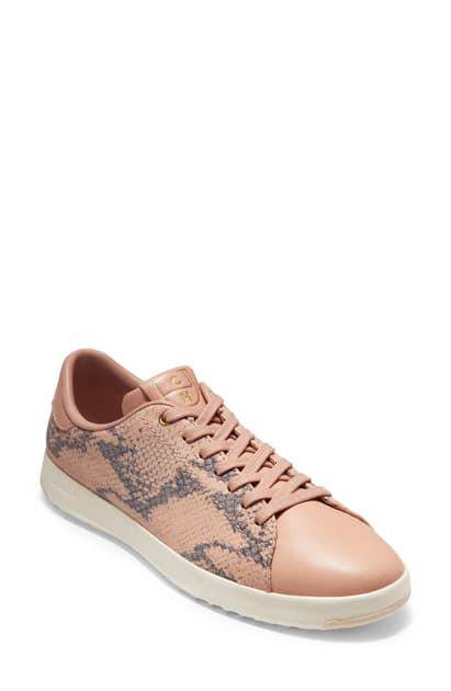 Cole Haan Grandpro Snakeskin-Embossed Leather Sneakers In Mahogany Rose Snake Leather
