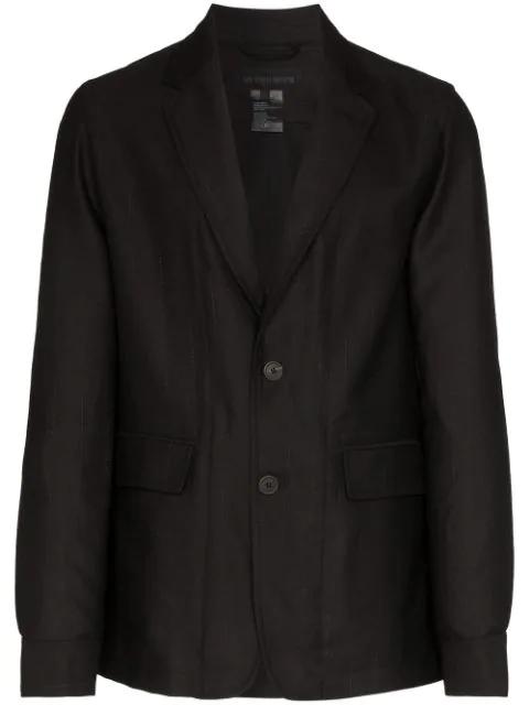 Ann Demeulemeester Oversized Striped Blazer In Black