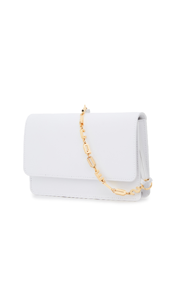 Jacquemus Le Sac Riviera Leather Shoulder Bag In White
