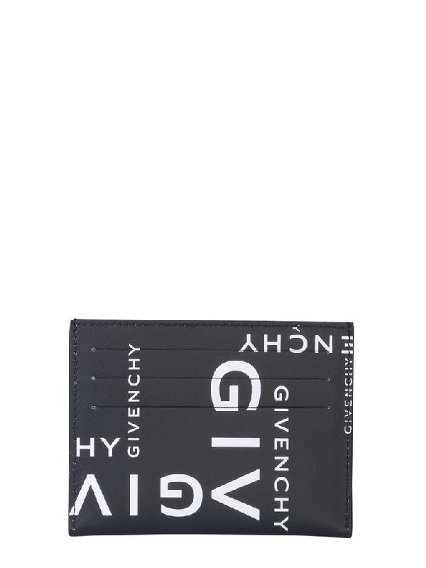 Givenchy Logo Printed Cardholder In Multi