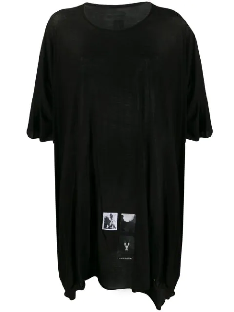 Rick Owens Drkshdw Relaxed Shape Short Sleeve T-shirt In 09 Black