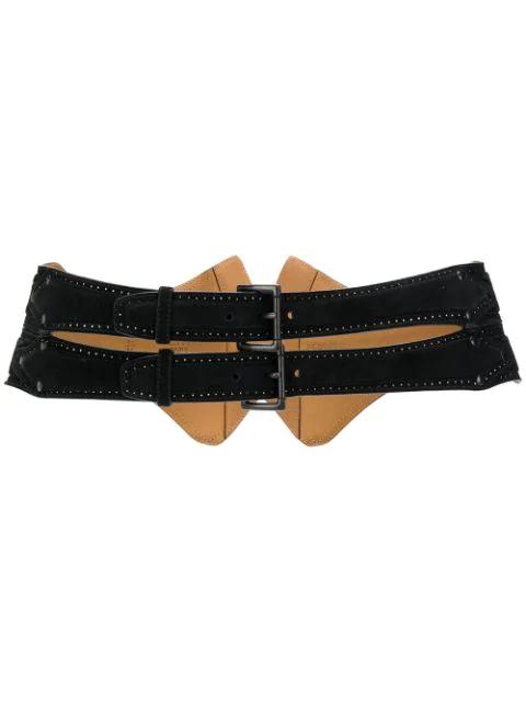 Alaïa 1990s Double Buckled Belt In Black