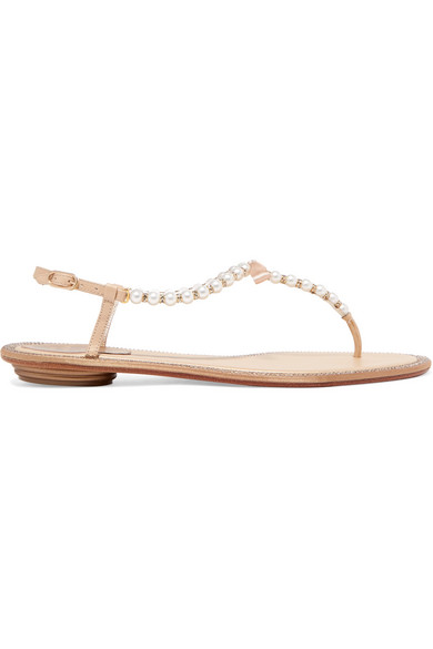 231df76c5cd6 RenÉ Caovilla Eliza Embellished Leather Sandals In White