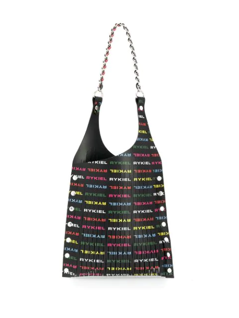 Sonia Rykiel Logo Print Tote Bag In Black