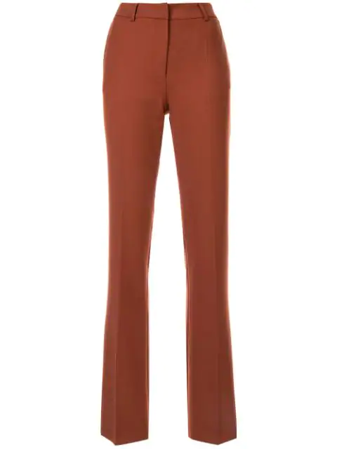 Agnona Tailored Trousers In Brown