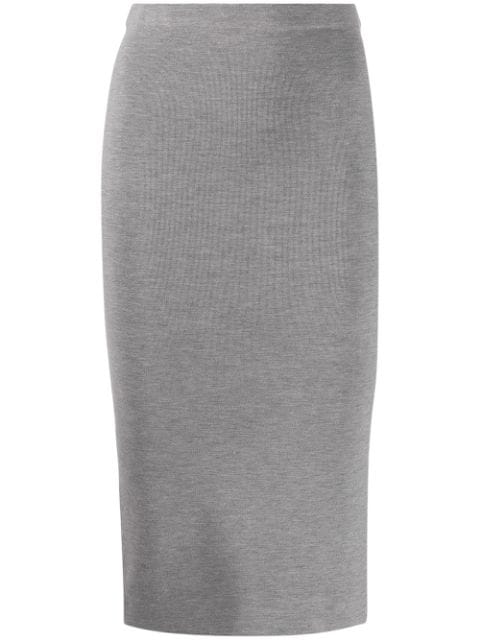 Joseph Fitted Pencil Skirt In 0201 Grey Chine