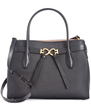 Kate Spade Toujours Medium Leather Satchel In Black