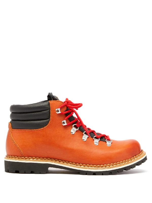 Montelliana Alberto Leather Hiking Boots In Tan