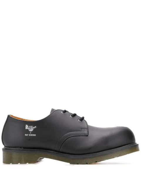 Raf Simons X Dr Martens Cut Out Steel Toe Shoes In 425