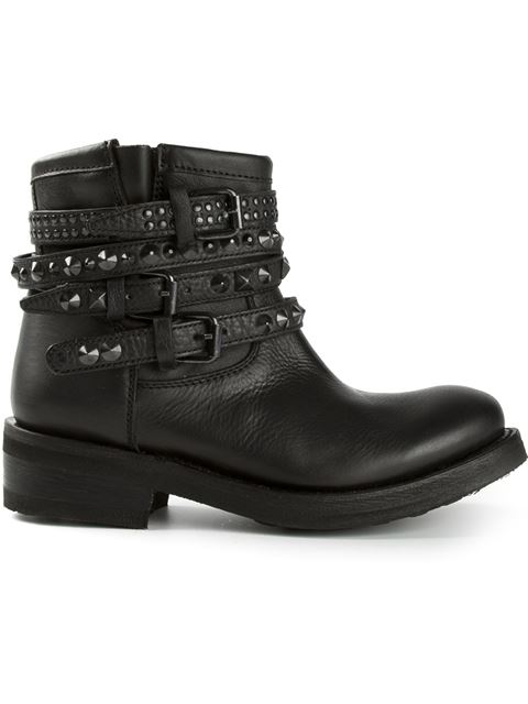 Ash 'Tatum' Studded Boots In Black