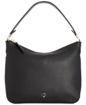 Kate Spade Polly Medium Flap Convertible Shoulder Bag In Black