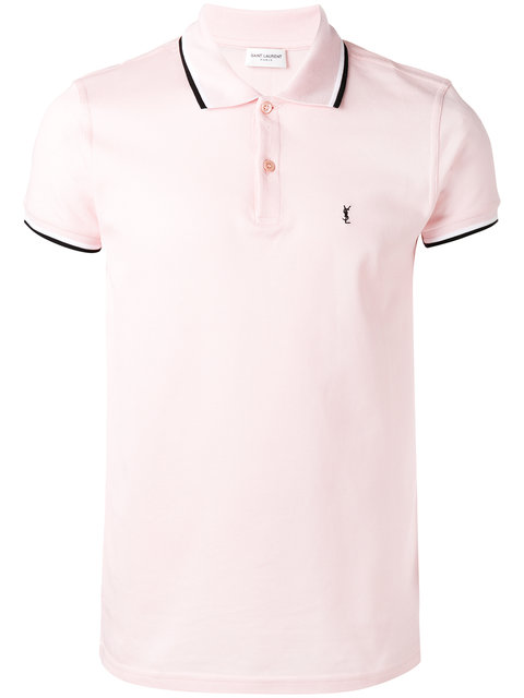 63683d7e Striped Trim Polo Shirt