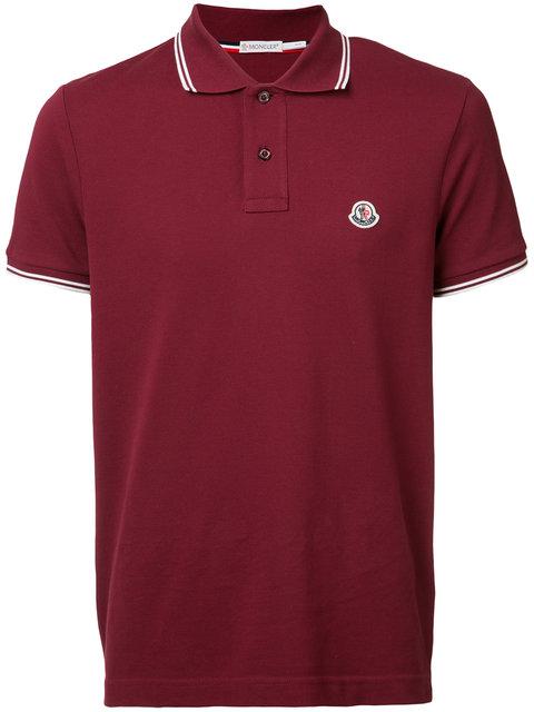 93a3edf512e6 Moncler Basic Polo Shirt In Bordeaux | ModeSens