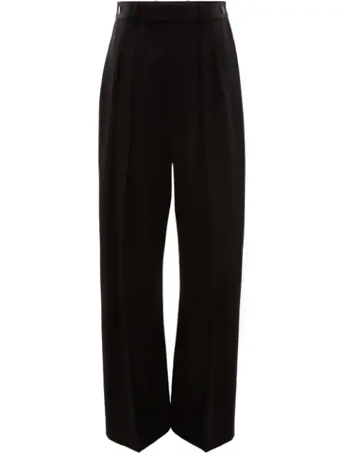 Jw Anderson High Waisted Wide Leg Trousers In 999 Black