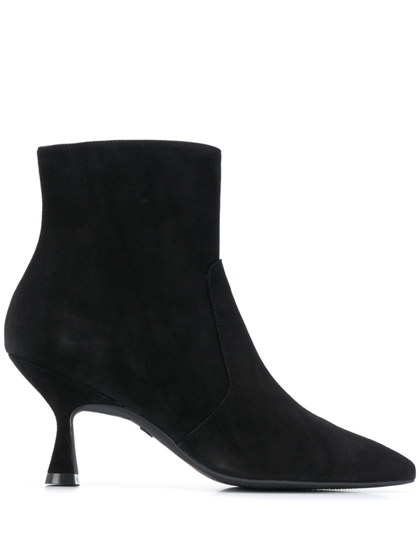 Stuart Weitzman Melena Leather Ankle Boots In Black
