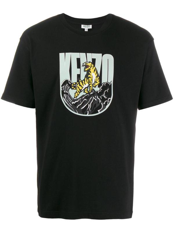 Kenzo Graphic Print T-shirt In 99