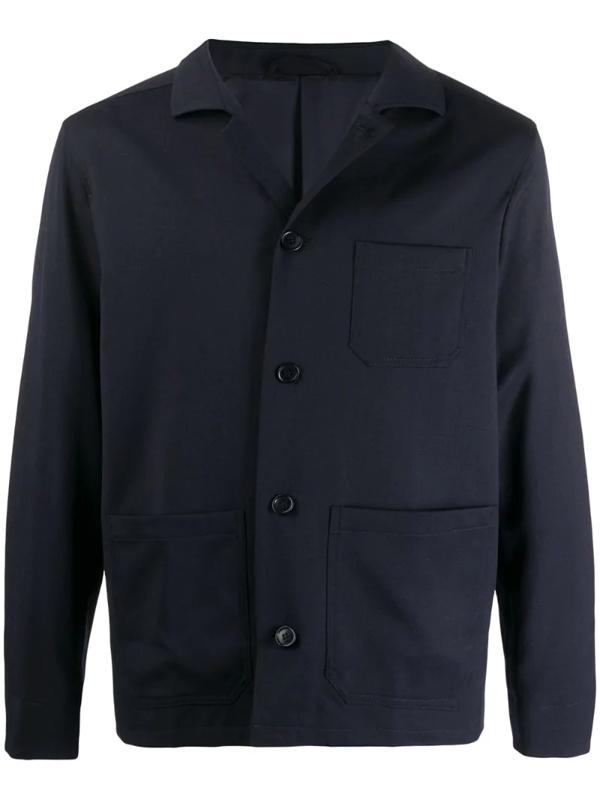 Filippa K Louis Gabardine Jacket In Blue