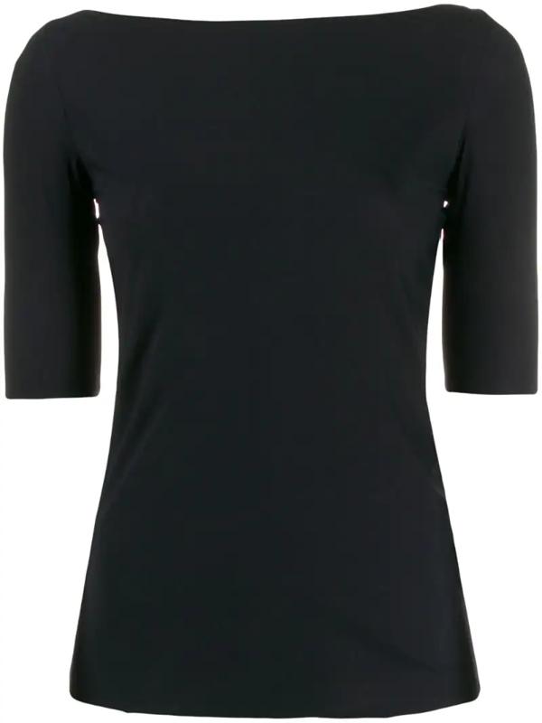 Filippa K Slim Fit Boat Neck T-shirt In Black