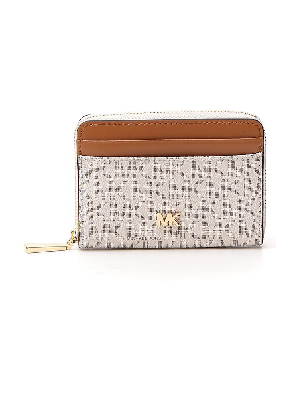 Michael Michael Kors Zipped Logo Wallet In Multi