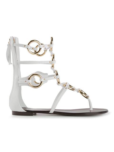 Giuseppe Zanotti Strappy Gladiator Sandals In White
