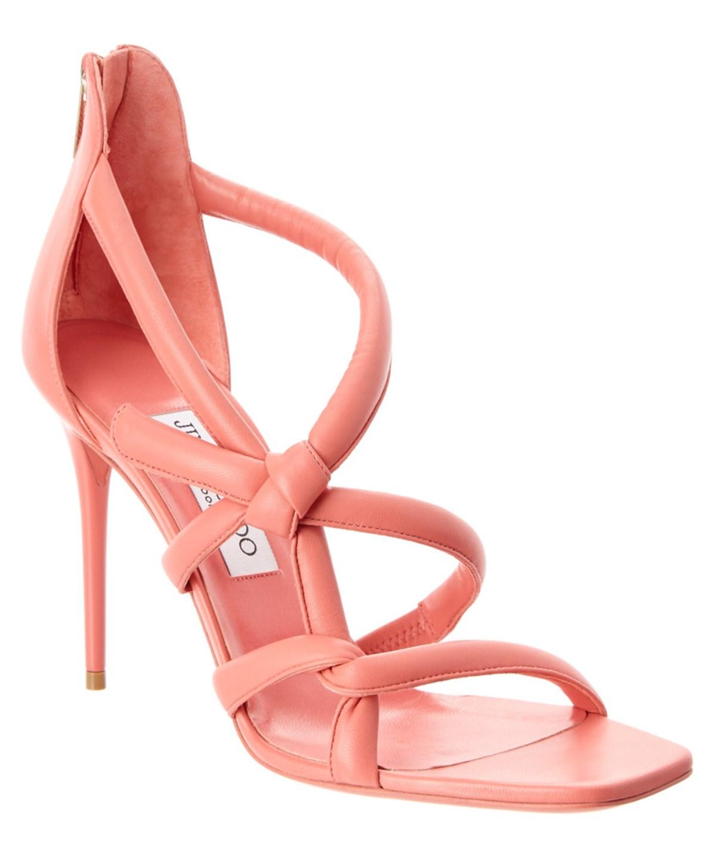 Jimmy Choo Carrie 100 Lame Glitter Fabric Peep-Toe Sandal In Multi