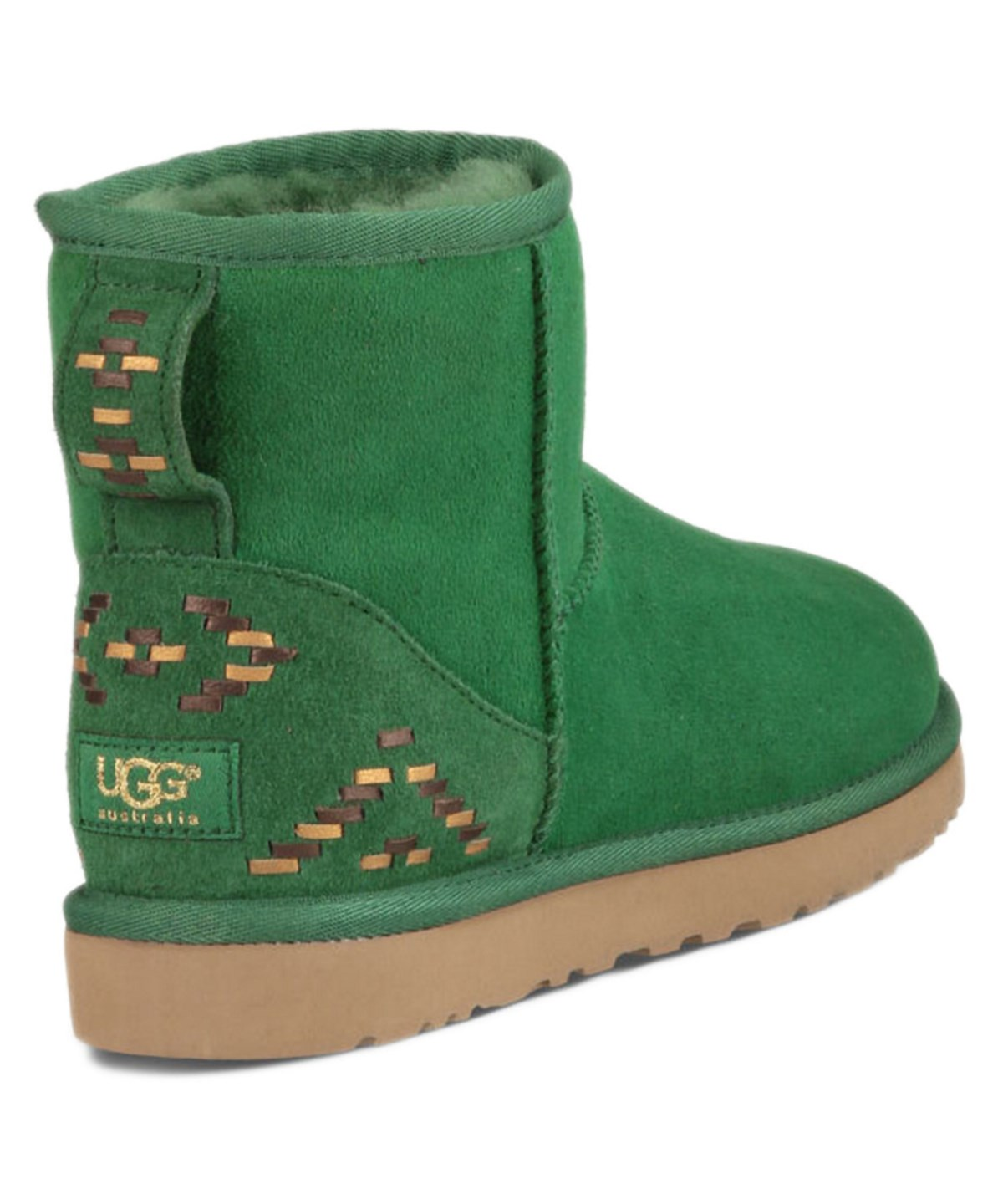 66f69b66d04 Ugg Classic Mini Rustic Weave Twinface Sheepskin Boot' in Green