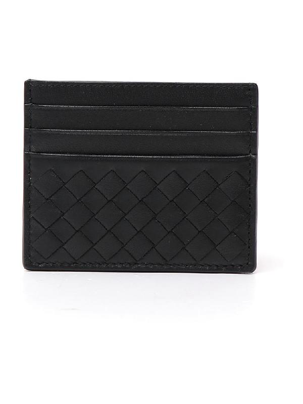 Bottega Veneta Intrecciato Cardholder In Black