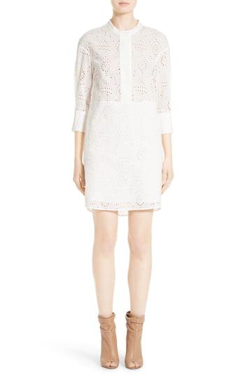 Burberry Daniela Eyelet Shirt Dress In White