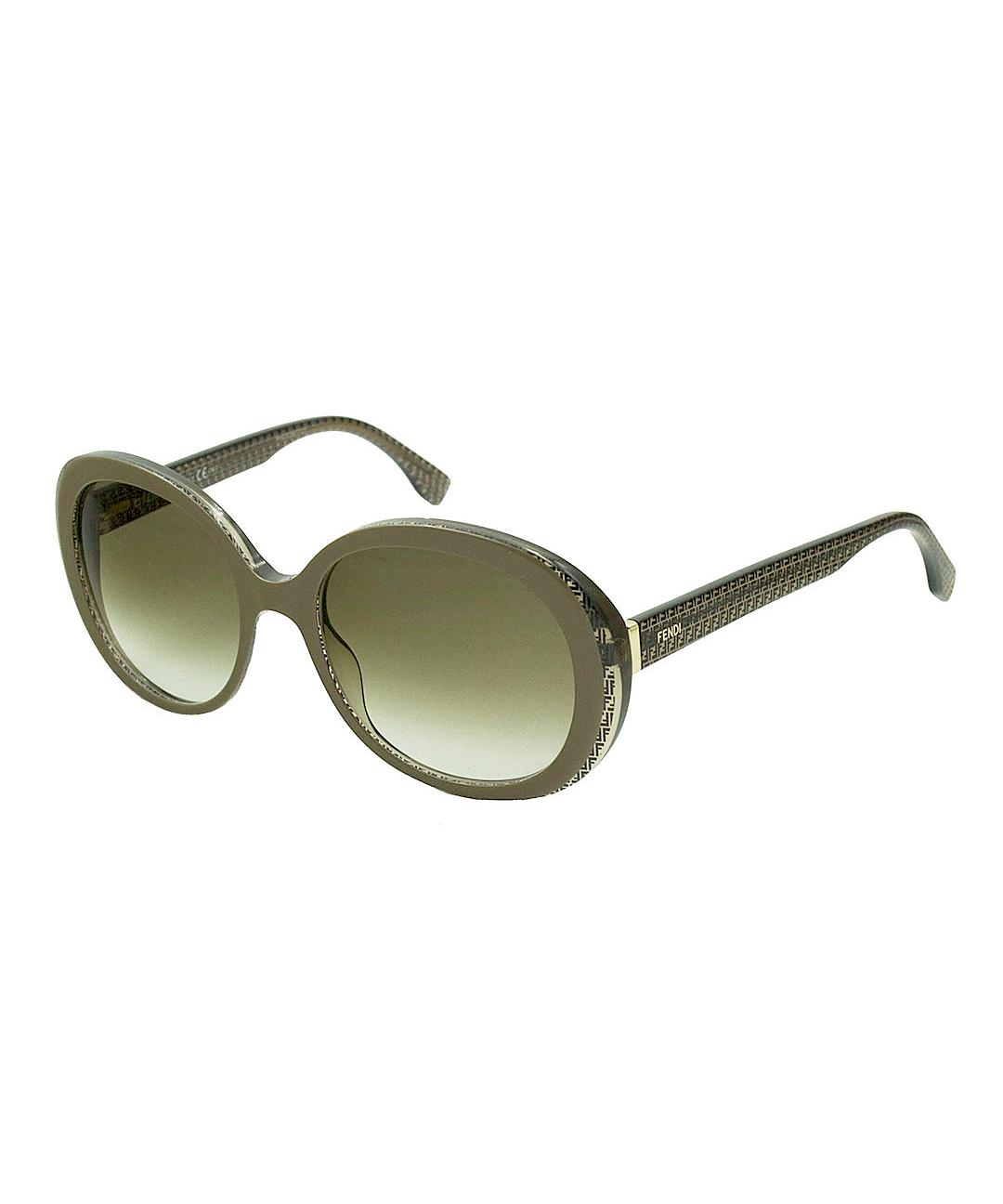 35500f47f8 Fendi Modified Round Plastic Sunglasses In Brown