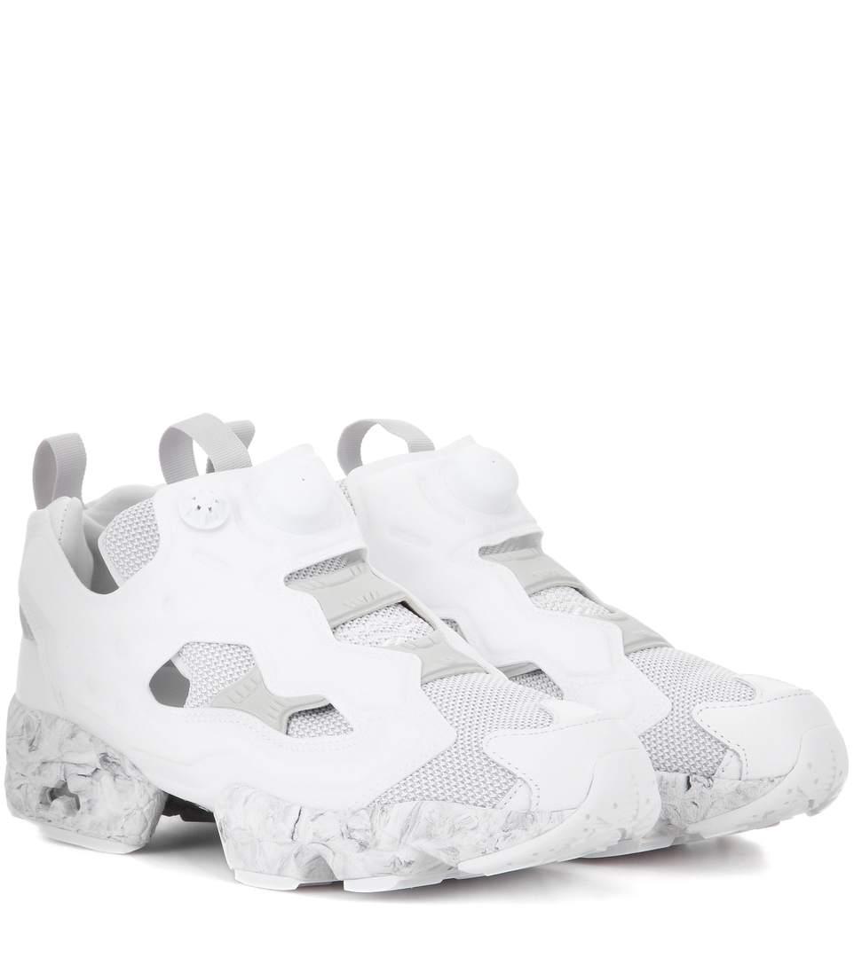 Reebok  Instapump Fury Achm  Marble Print Unisex Slip-On Sneakers In White aa6117022