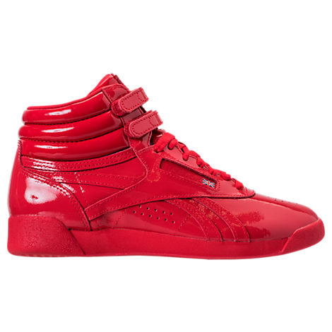 Women's Freestyle Hi Patent Casual Shoes, Red
