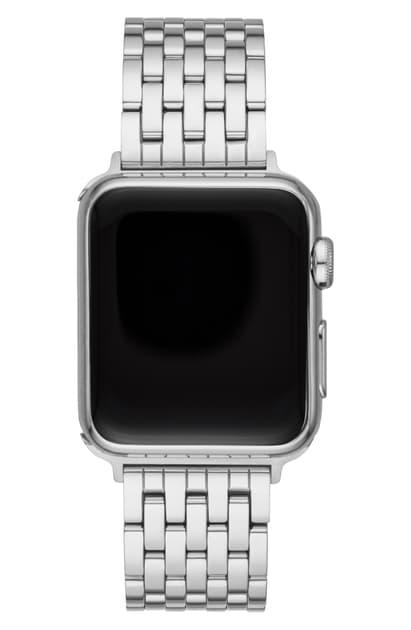 Michele Apple Watch Bracelet Strap In Silver