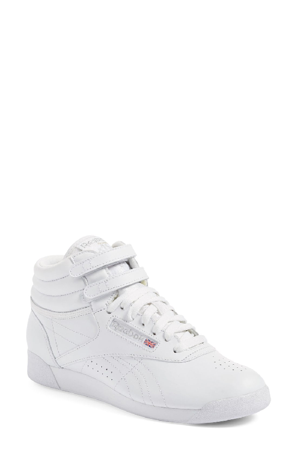 c3cedd8128e97 Reebok Women s Freestyle Leather High Top Sneakers In 010 White ...