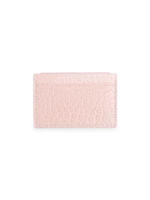 Royce New York Women's Rfid-blocking Alligator Card Case In Blush Pink