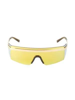 Versace Men's 145mm Sheild Sunglasses In Gunmetal