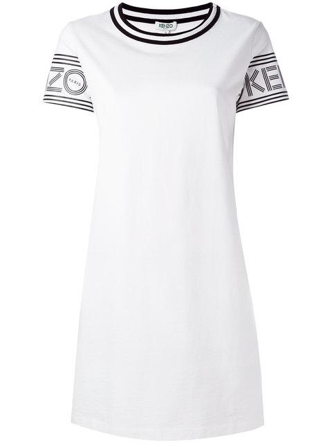 f888e9d095 Kenzo Logo Print T-Shirt Dress | ModeSens