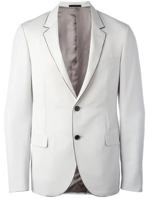 Lanvin Contrast Trim Blazer In Grey