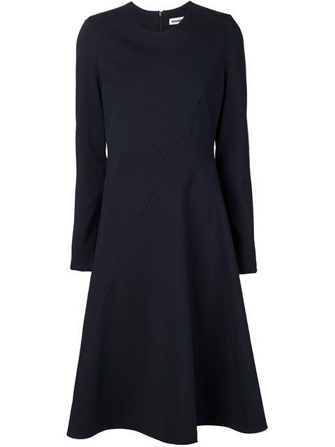 Jil Sander Flared Panel Dress In Black