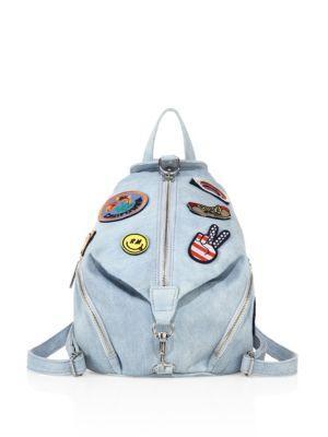 084665d29 Rebecca Minkoff Julian Medium Patches Backpack, Light Blue In Light Denim